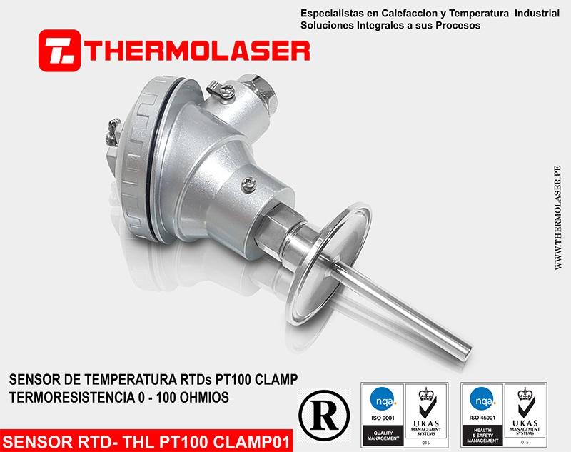 SENSOR DE TEMPERATURA RTD PT100 TIPO CLAMP